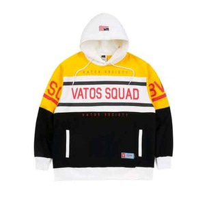 STIGMA SQUAD OVERSIZED HEAVY SWEAT RUGBY HOODIE YELLOW