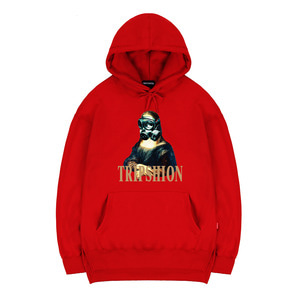 TRIPSHION MONALIZA MASK HOODIE - RED