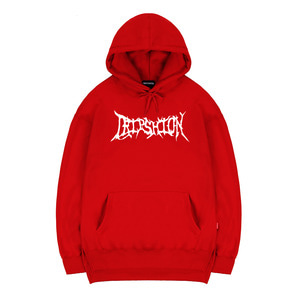 TRIPSHION CRACK HOODIE - RED