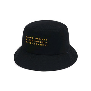 STIGMA SQUARE OVERSIZED BUCKET HAT BLACK