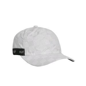 HUF BLACKOUT CURVED VISOR HAT WHITE