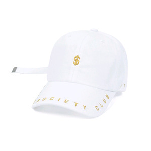 STIGMA DOLLAR BASEBALL CAP WHITE