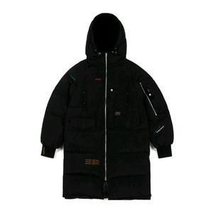 STIGMA FAMOUS DUCKDOWN LONG PADDING JACKET BLACK