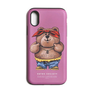 STIGMA PHONE CASE THUG BEAR PINK iPHONE 8 / 8+ / X