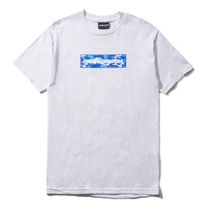 THE HUNDREDS CAMO BAR T-SHIRT ASH HEATHER