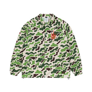 STIGMA DUST OVERSIZED COACH JACKET CAMOUFLAGE