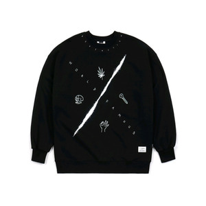 STIGMA MMX HEAVY SWEAT OVERSIZED CREWNECK BLACK