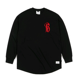 STIGMA LTD LAYERD LONG SLEEVES T-SHIRTS BLACK