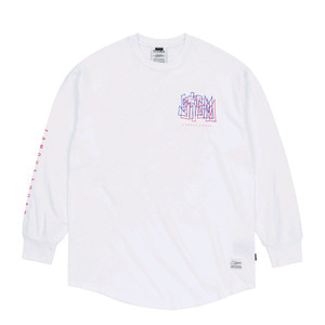 STIGMA PRISM LAYERD LONG SLEEVES T-SHIRTS WHITE