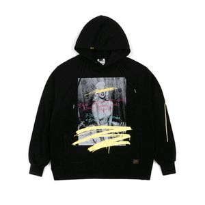 STIGMA SYMBOL HEAVY SWEAT OVERSIZED HOODIE BLACK