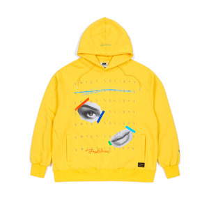 STIGMA EYE HEAVY SWEAT OVERSIZED HOODIE YELLOW
