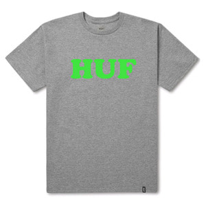 HUF COOPER FLOCK TEE ATHLETIC HEATHER