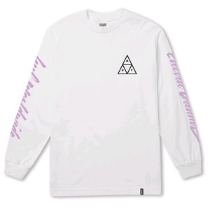 HUF NIGHT CALL TRIPLE TRIANGLE L/S WHITE