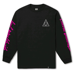 HUF NIGHT CALL TRIPLE TRIANGLE L/S BLACK