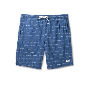 HUF FUCK IT EASY SHORT BLUE