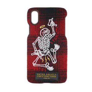 STIGMA MASTERPIECE WOOL CHECK FABRIC CASE RED iPhone 8 / 8+ / X