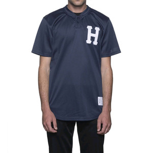 HUF CLASSIC H HENLEY JERSEY NAVY