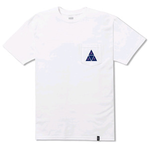 HUF TT S/S POCKET TEE WHITE