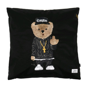 STIGMA COMPTON BEAR THROW PILLOW BLACK