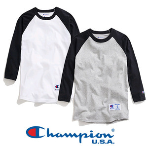 Champion USA Raglan Baseball t-shirt 베이스볼 야구티셔츠2 colors