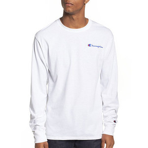 Champion USA LOGO LONG SLEEVE T-SHIRTS (WHITE)