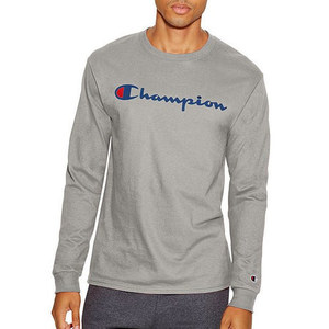Champion USA LOGO LONG SLEEVE T-SHIRTS (GREY)