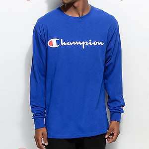 Champion USA LOGO LONG SLEEVE T-SHIRTS (ROYAL)