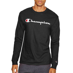 Champion USA LOGO LONG SLEEVE T-SHIRTS (BLACK)