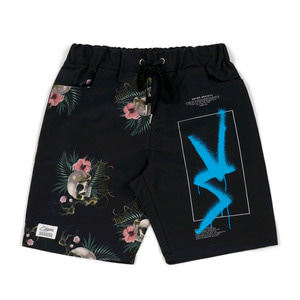 STIGMA VS PATTERN SHORT PANTS BLACK