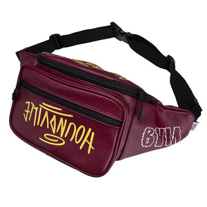 HOUNDVILLE SEOUL artificial leather waist bag wine