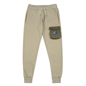 HOUNDVILLE 3D POCKET sweat pant khaki