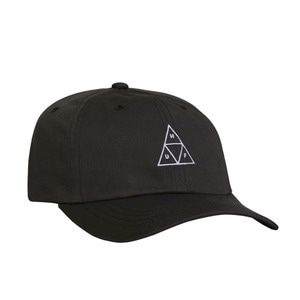 HUF TRIPLE TRIANGLE CURVED VISOR HAT BLACK