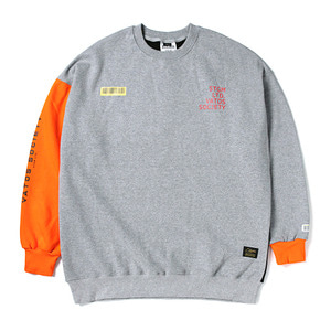 STIGMA BARCODE OVERSIZED HEAVY SWEAT CREWNECK ORANGE