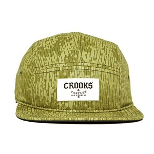 CROOKS & CASTLES Mens Knit 5 Panel Cap - Jungle Fever