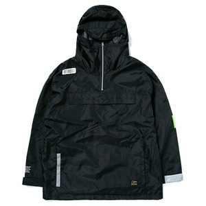 STIGMA TIGER OVERSIZED ANORAK JACKET BLACK