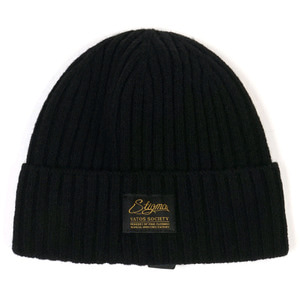 STIGMA LABEL WOOL BEANIE BLACK