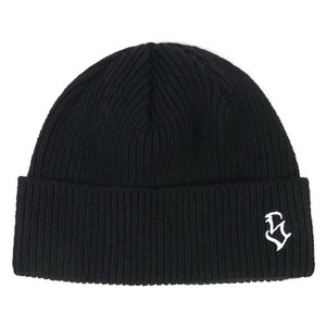 STIGMA S - LOGO WOOL SHORT BEANIE BLACK