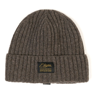 STIGMA LABEL WOOL BEANIE BEIGE