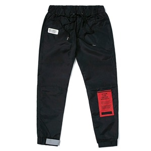 STIGMA TIGER BENDING JOGGER PANTS BLACK