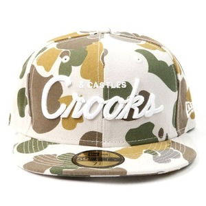 CROOKS & CASTLES Mens Woven Fitted Cap - Stadium TAN