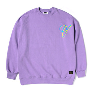 STIGMA V OVERSIZED HEAVY SWEAT CREWNECK LIGHT PURPLE