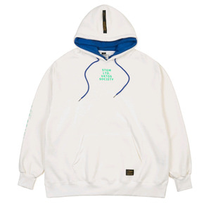 STIGMA DOUBLE OVERSIZED HEAVY SWEAT HOODIE CREAM