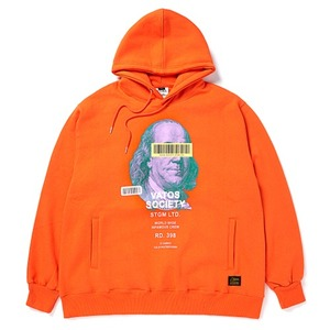 STIGMA B.F OVERSIZED HEAVY SWEAT HOODIE ORANGE