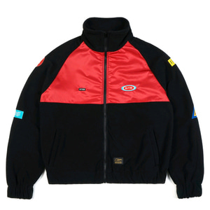 STIGMA STGM OVERSIZED FLEECE TRACK JACKET BLACK