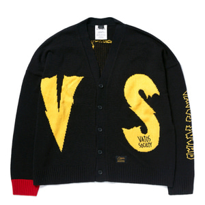 STIGMA VS OVERSIZED WOOL CARDIGAN BLACK
