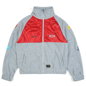 STIGMA STGM OVERSIZED FLEECE TRACK JACKET GREY