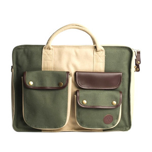 AMONGST FRIENDS DUCK CANVAS LAPTOP BAG [1]