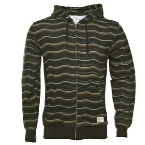 CROOKS & CASTLES WAVY STRIPE ZIP UP HOODIE [1]