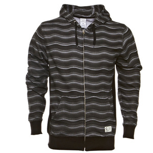 CROOKS & CASTLES WAVY STRIPE ZIP UP HOODIE [2]