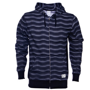 CROOKS & CASTLES WAVY STRIPE ZIP UP HOODIE [3]
